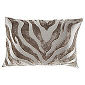Tiger Stripe Cut Velvet Cream