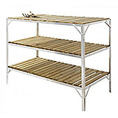 Simplicity Caverswall Staging / Bench Wooden Three Tier 2ft Wide x 4ft Long