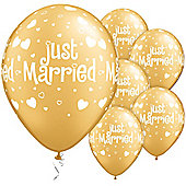 11' Just Married Hearts & Hearts (6pk)