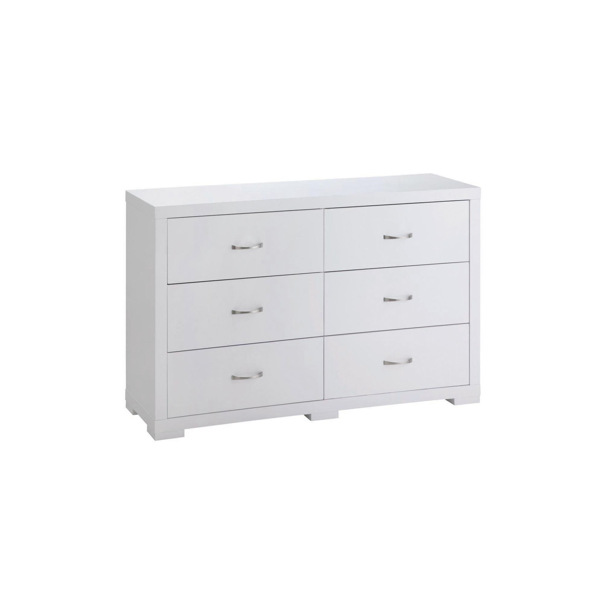 Home Zone Solar 6 Drawer Wide Chest - White at Tesco Direct