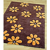 Origin Red Daisi Chocolate Rug - 150cm x 80cm