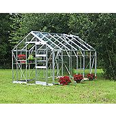 Elite Belmont Greenhouse – 8 x 12 - Natural Aluminium Finish – Toughened Glass