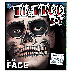 Rasta Imposta - Halloween Special Effects Tattoos - Skull Face