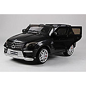 Kids Electric Car Mercedes Benz ML63 12 Volt Black Gloss