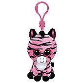 "Ty Beanie Boo Boos 3"" Key Clip - Zoey the Zebra"