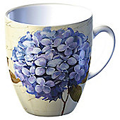 Tesco Single Porcelain Classic Flower Mug, Blue