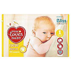 Tesco Loves Baby Ultra Soft New Born 25 Pack