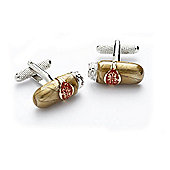 Cuban Cigar Novelty Themed Cufflinks