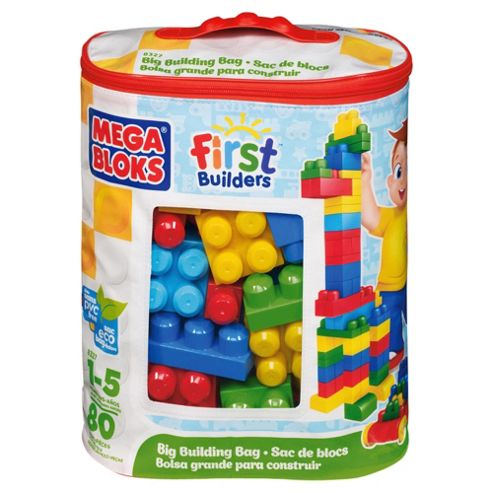 Mega Bloks First Builders Big Building Bag Classic, 80 piece