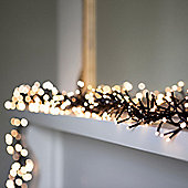 448 Warm White LED Cluster Fairy Lights on Black Cable