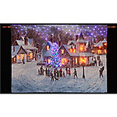 Denis Lewan Christmas Eve Illuminated Hanging Tapestry