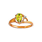 QP Jewellers Diamond & Peridot Glow Ring in 14K Rose Gold