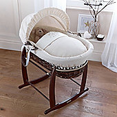 Clair de Lune Dark Wicker Moses Basket (Stardust Cream)