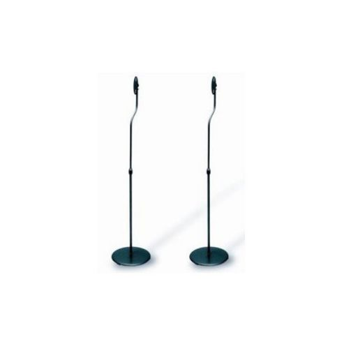 Techlink Pair of Black Speaker Stands with Metal Base