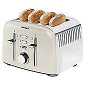 Breville VTT501 Aurora 4 Slice Toaster - Cream & Stainless Steel