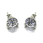 18ct White Gold 8.0mm Moissanite Earrings