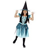 F&F Halloween Spider Witch Dress-Up Costume - Black & Mint