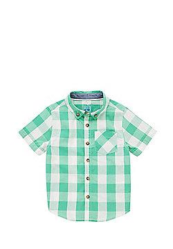 F&F Checked Short Sleeve Shirt - Green