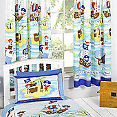 Seven Seas Pirates Lined Curtains 66 inch x 72 inch (168cm x 183cm)