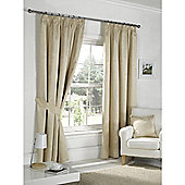 Dreams n Drapes Fairmont Cream 46x54 Blackout Pencil Pleat Curtains