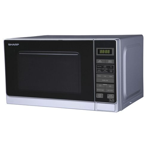 Sharp R272SLM Compact 20L Solo Microwave, Silver