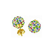 QP Jewellers 4.0ct Cubic Zirconia Paris Ball Stud Earrings in 14K Gold
