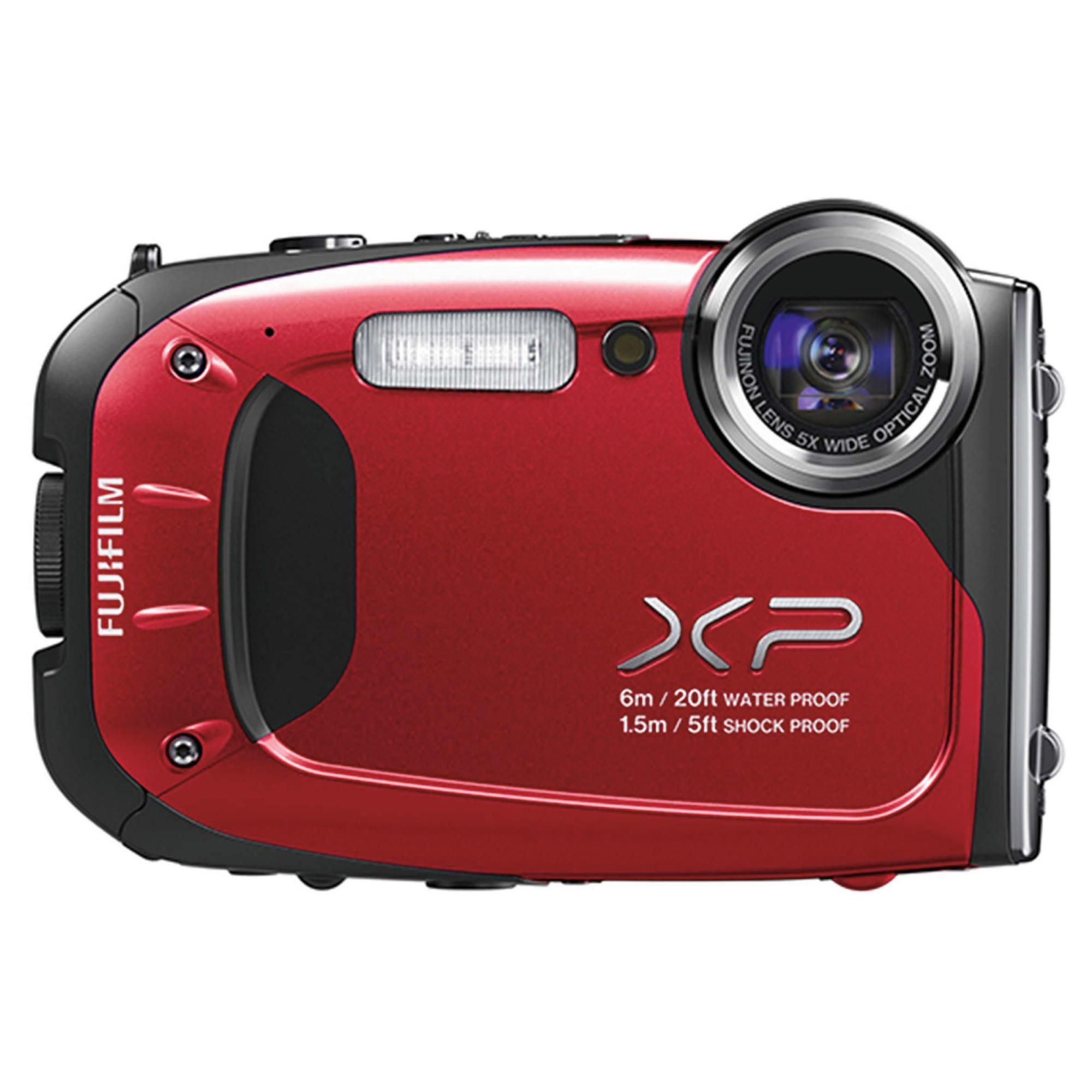 Fujifilm XP60 Tough Digital Camera, Red, 16MP, 5x Optical Zoom, 2.7 inch LCD Screen