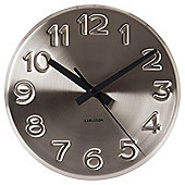 Karlsson Bold Engraved Numbers Wall Clock - Grey