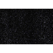 Ultimate Rug Co Lifestyle Black Shag Rug - 80cm x 150cm