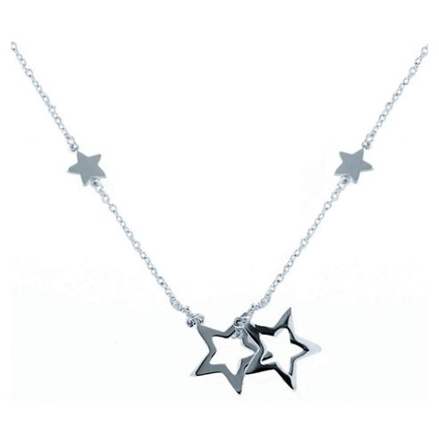 Sterling Silver Star Drop Pendant