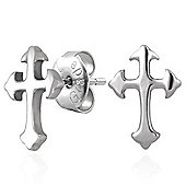 Urban Male Stainless Steel Cross Stud Earrings 10mm