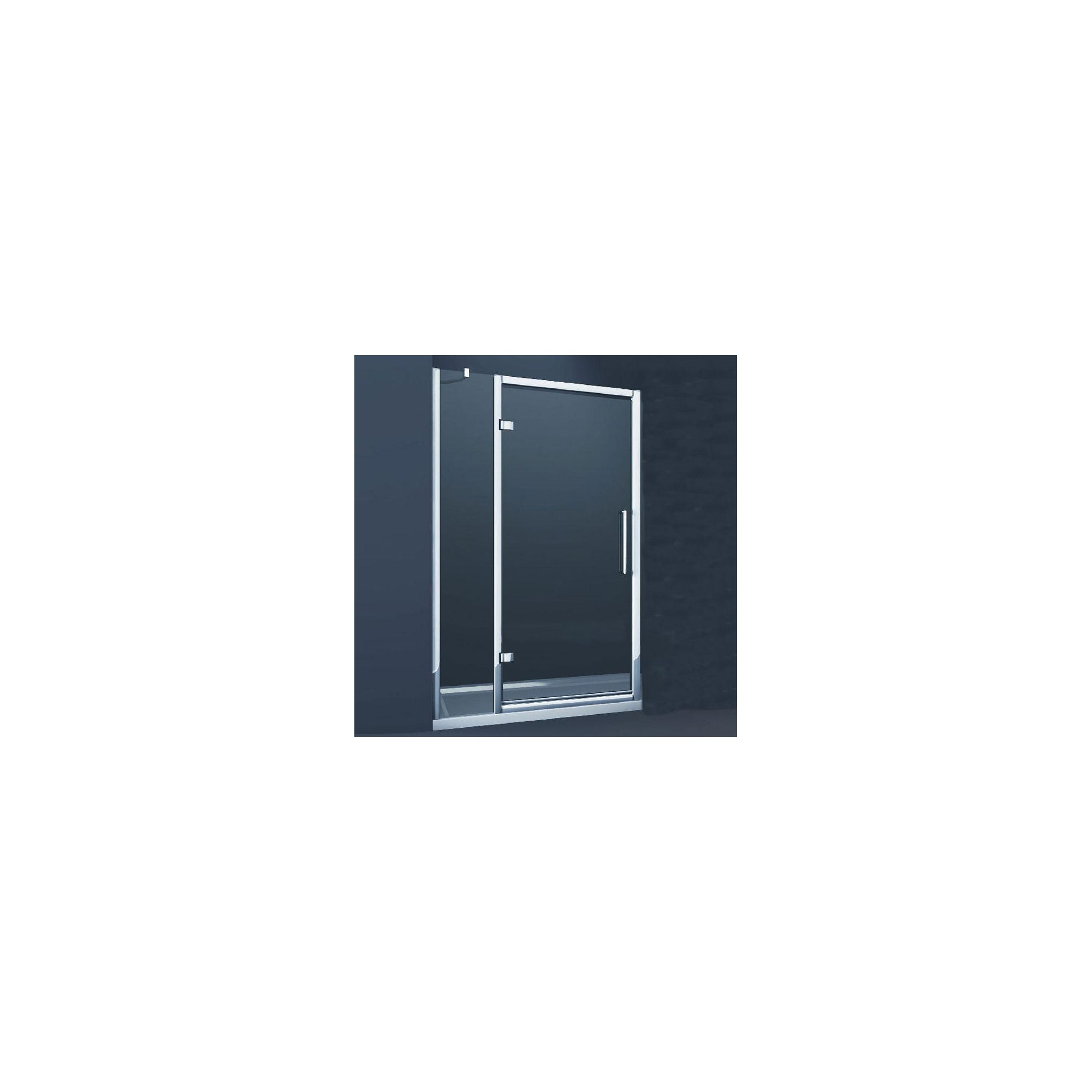 Merlyn Series 8 Inline Hinged Shower Door, 1000mm Wide, Chrome Frame, 8mm Glass at Tesco Direct