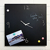 Magnetic blackboard clock 40cm x 40cm, blackboard bulletin board
