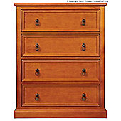 Sweet Dreams Wagner 4 Drawer Chest - Oak