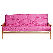Java Double Futon With Mattress Pink