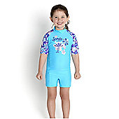 Speedo Infant Girl's Essential All in One UV Suit - Turquoise