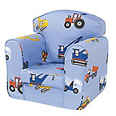 Children's Single Sofa Chair - Toys Trucks