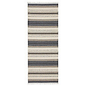 Swedy Malva Black / White Rug - Runner 60 cm x 150 cm (2 ft x 4 ft 11 in)