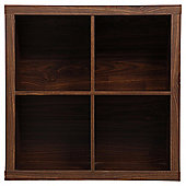 Tribeca 4 Shelf Cube Unit Walnut