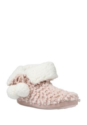 buy f f sequin popcorn knit bootie slippers from our gifts. Black Bedroom Furniture Sets. Home Design Ideas