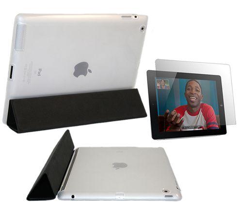 iTALKonline 18885 Matte Clear Smart ProGel Skin Case & Anti Glare Matt Screen Protector - Apple iPad 2 16gb 32gb 64gb (Works with Apple Smart Cover)