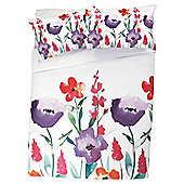 Tesco Painted Wild Flower Duvet Set  Kingsize