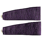 Ripple Pair of Tie Backs 60cm Plum