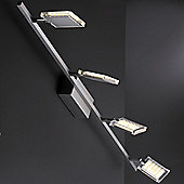 Paul Neuhaus Futura 4 Light Track Light in Steel