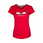 Eyes For Ewe Womens Tee Womens Ladies Short-Sleeved Printed Tee Shirt T-Shirt - Red
