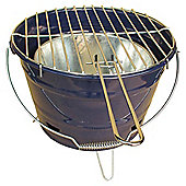 Tesco Small  Charcoal Bucket BBQ - Navy Blue