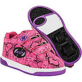 NEW Heelys Speed Girls Roller Skating Shoe Trainer Fuchsia/Snake JNR 11 - UK3 - Pink