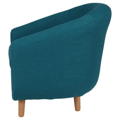 Buy Retro Fabric Tub Chair Teal From Our Armchairs