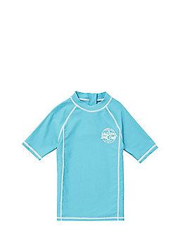 F&F UPF 50+ Contrast Stitch Rash Vest - Blue