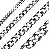 Urban Male Stainless Steel 10mm Curb Link Chain 24in Long